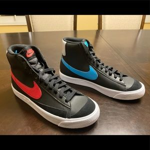 New Nike Blazer Mid 77 Top 3 Multicolor Leather Sneaker Shoes Size US 8.5
